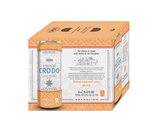 Crodo Peach Sparkling Mineral Water