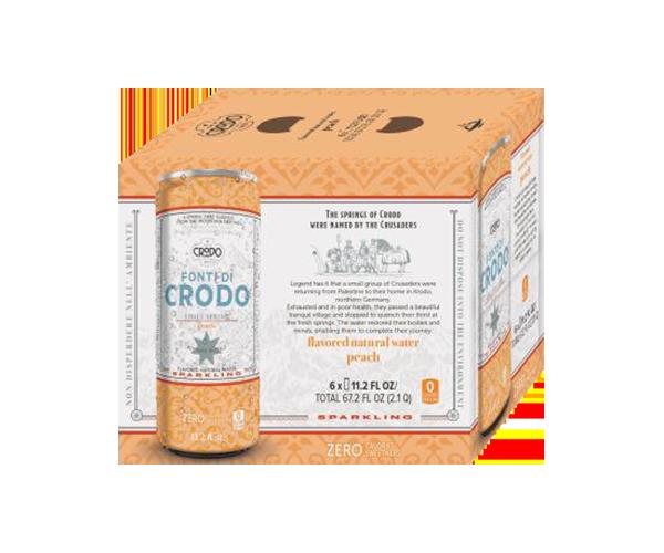 Crodo Peach Sparkling Mineral Water