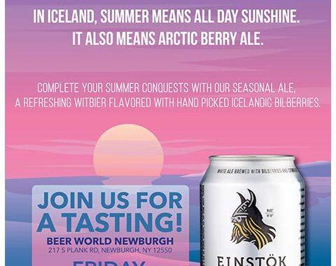 Einstok Tasting Beer World Newburgh