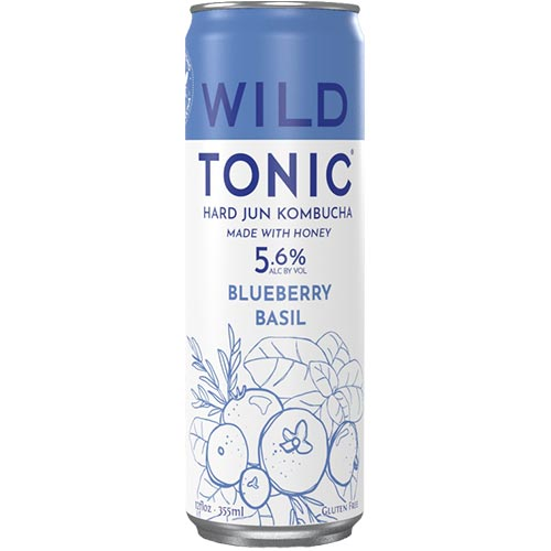 Wild Tonic Blueberry Basil Hard Jun Kombucha