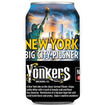 Yonkers Brewing New York Big City Pilsner