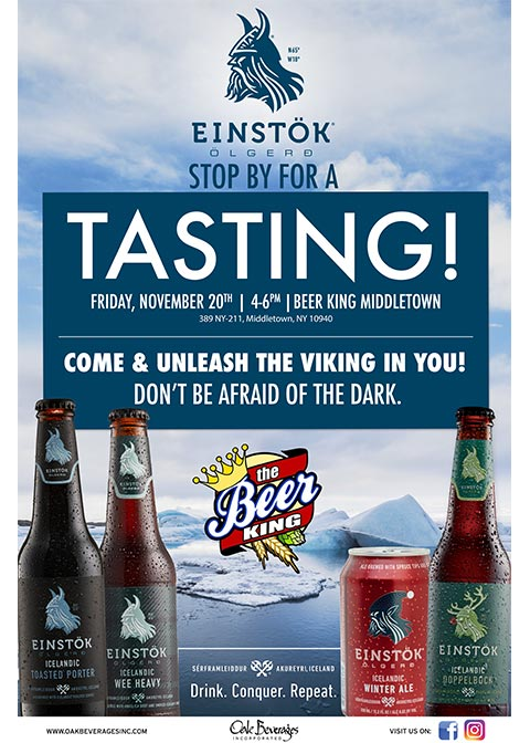 Einstok Tasting Event at The Beer King